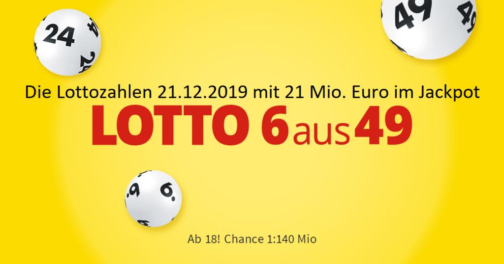 Lottozahlen 21.12.2019