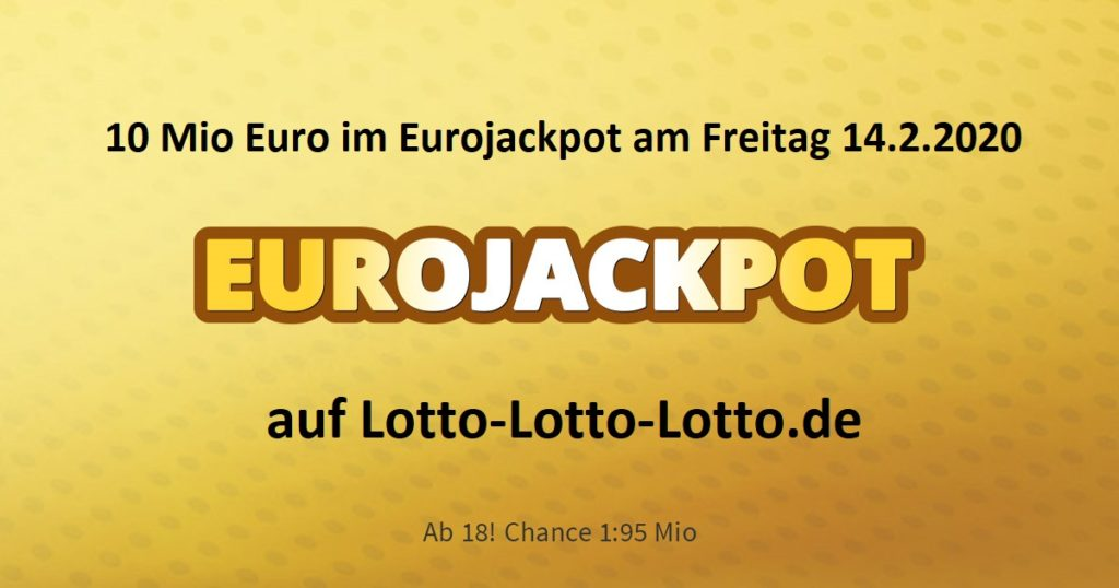Lottozahlen Eurojackpot Gewinnquoten